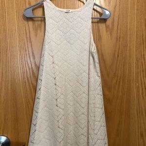 White/cream colored shift flare dress